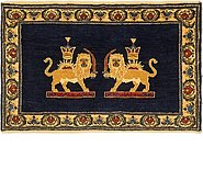 Link to 60cm x 100cm Ghashghaei Persian Rug