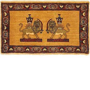 HandKnotted 2' x 3' 4 Ghashghaei Persian Rug