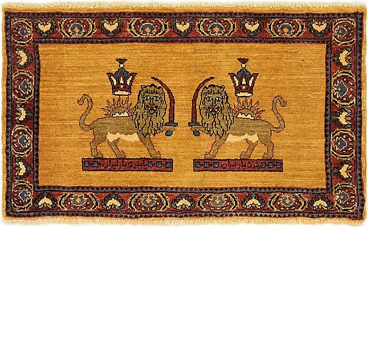60cm x 102cm Ghashghaei Persian Rug