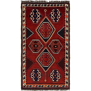 Unique Loom 4' 2 x 7' 4 Shiraz-Lori Persian Rug