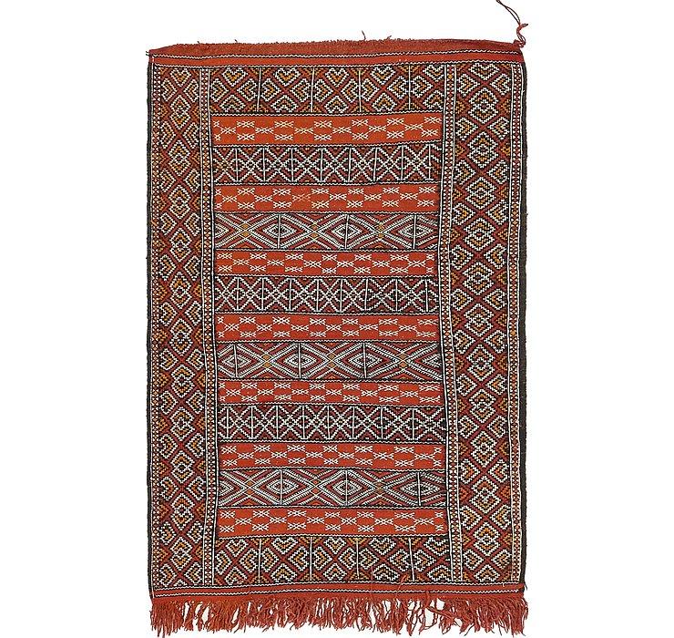 3' 3 x 5' 3 Moroccan Oriental Rug