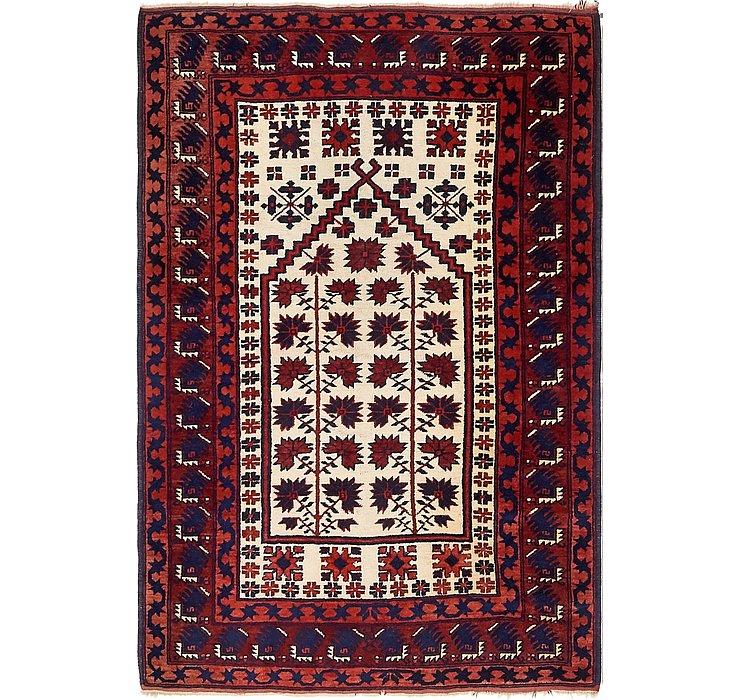 3' 9 x 5' 7 Balouch Persian Rug
