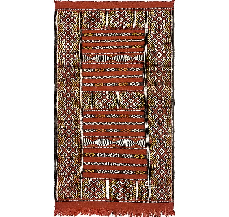 2' 7 x 4' 10 Moroccan Oriental Rug
