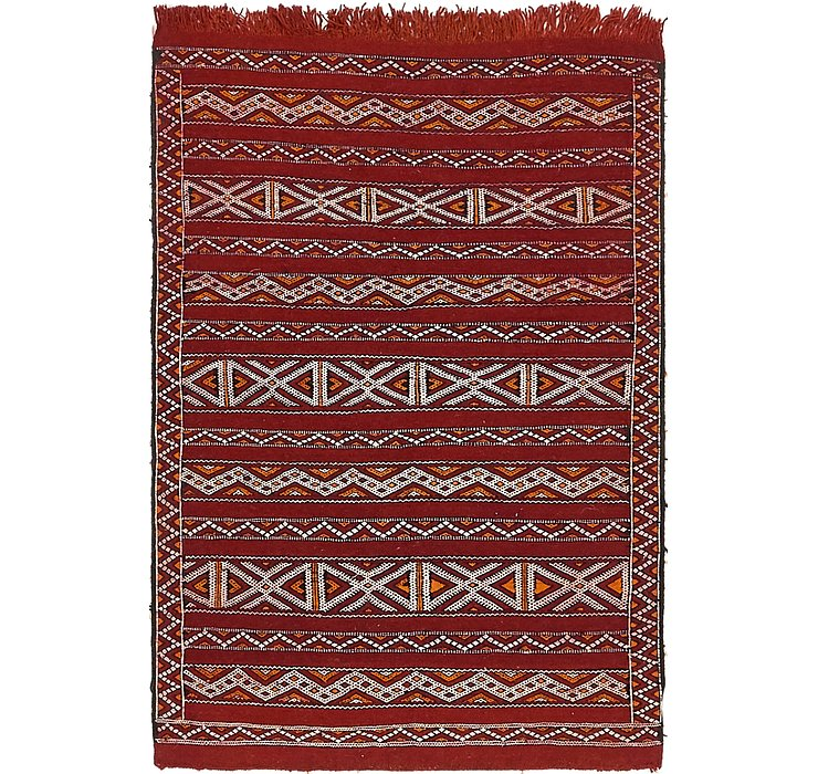 HandKnotted 3' 2 x 4' 9 Moroccan Rug