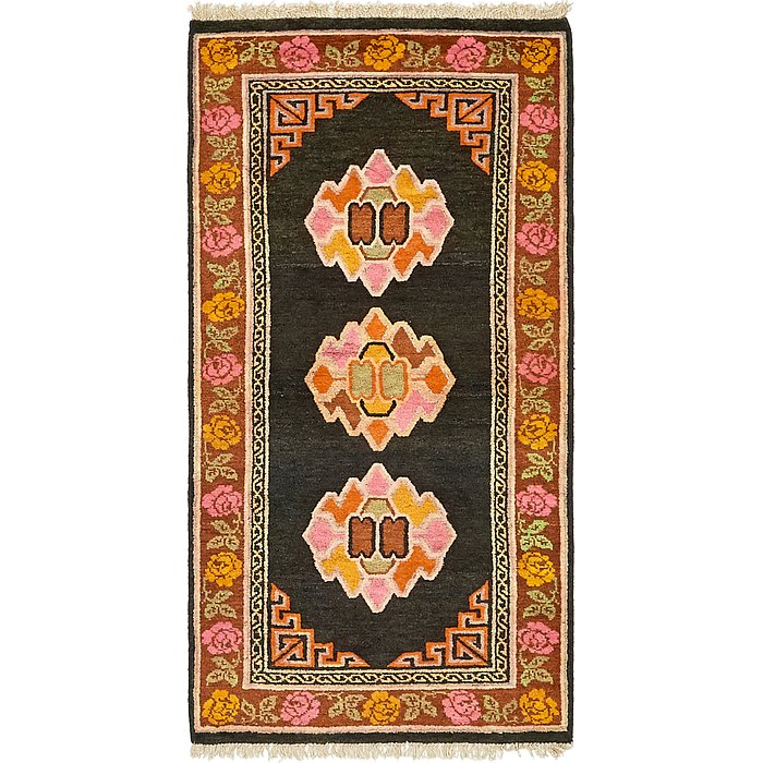 2' 8 x 5' 5 Antique Finish Rug