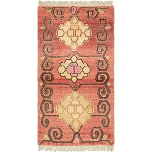 2' 7 x 5' Antique Finish Rug