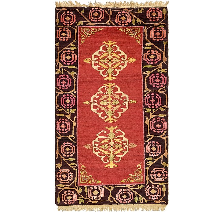 85cm x 160cm Antique Finish Rug