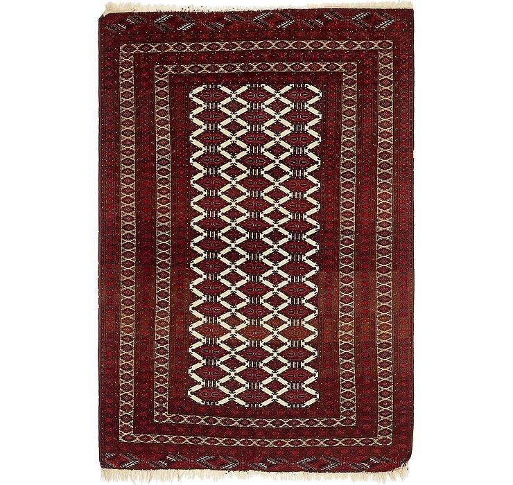 4' 2 x 6' 4 Torkaman Persian Rug