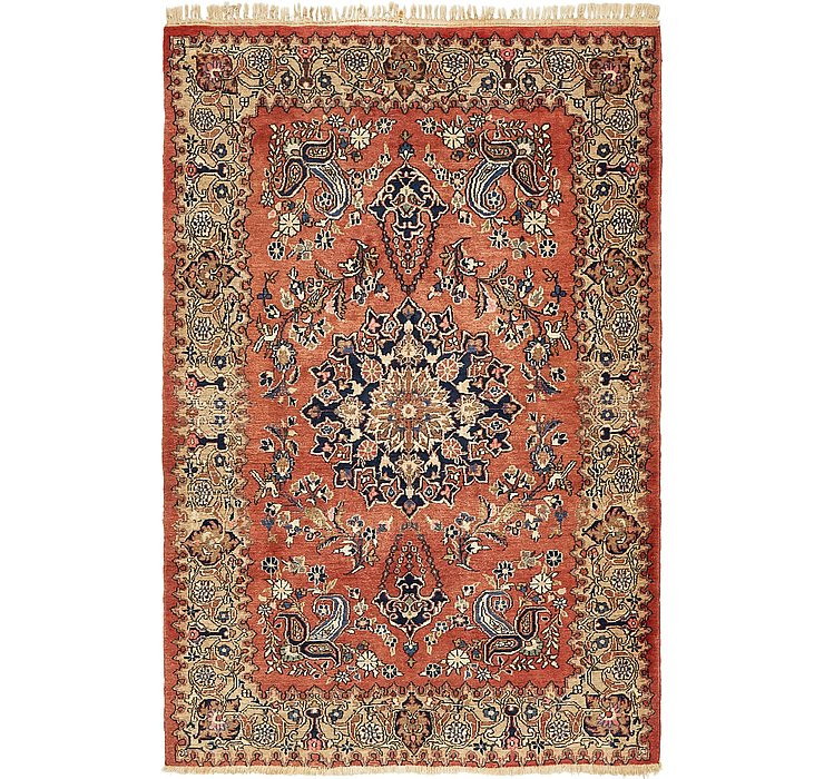 HandKnotted 4' 4 x 6' 7 Kerman Persian Rug
