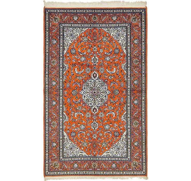 5' x 8' 7 Kashan Persian Rug