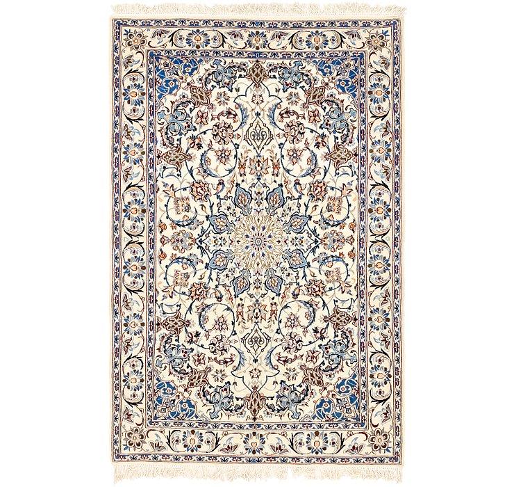 4' 4 x 7' Nain Persian Rug