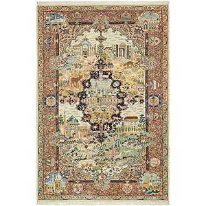 6' 6 x 9' 9 Kashmar Persian Rug