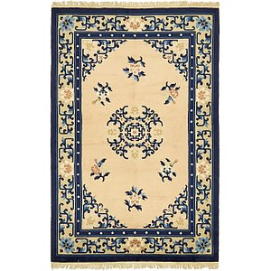 HandKnotted 4' 4 x 6' 8 Antique Finish Rug