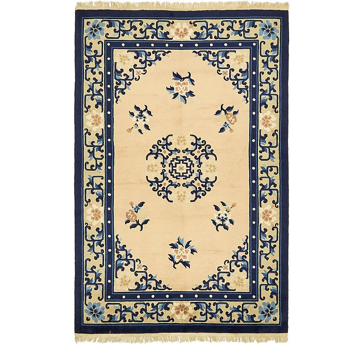 4' 4 x 6' 8 Antique Finish Rug