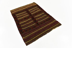 Unique Loom 3' 4 x 4' 7 Sumak Rug