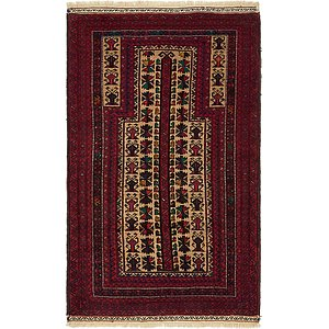 Unique Loom 3' x 5' Balouch Persian Rug