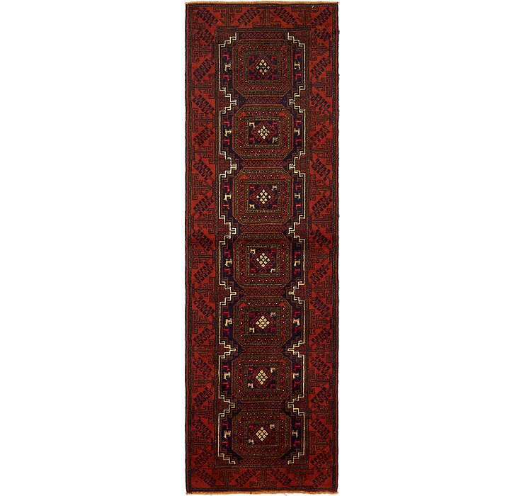 2' 8 x 9' 2 Balouch Persian Runner ...