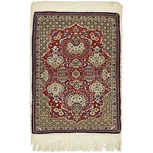 2' 4 x 3' 2 Qom Persian Rug