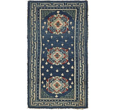 74x137 Antique Finish Rug