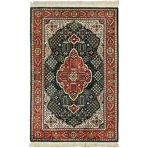 HandKnotted 3' 4 x 5' Qom Persian Rug