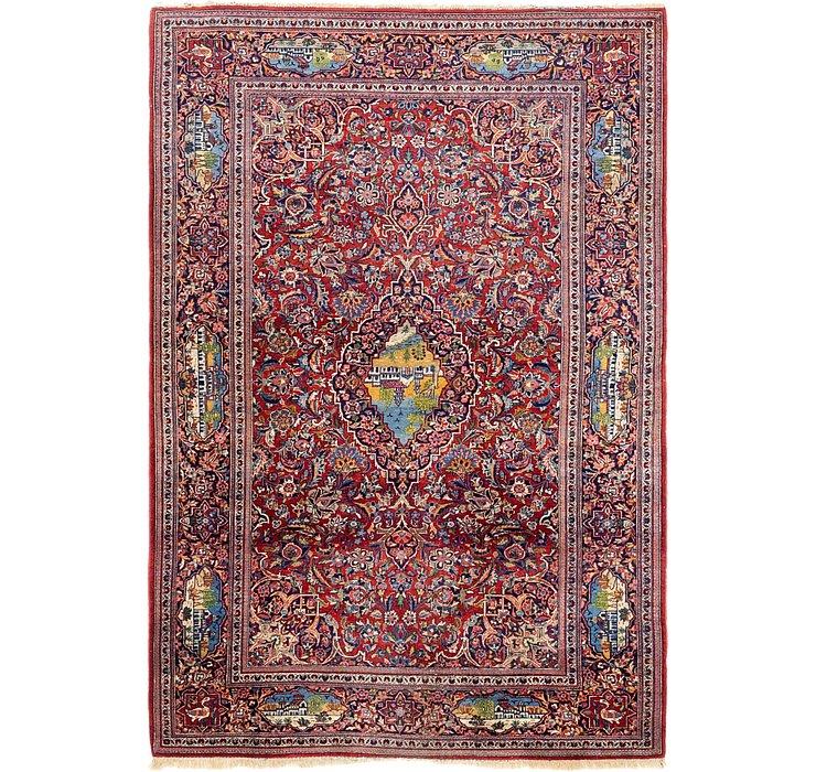 4' 4 x 6' 7 Kashan Persian Rug
