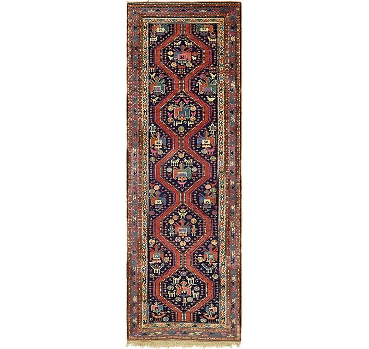 122cm x 378cm Shiraz Persian Runner Rug