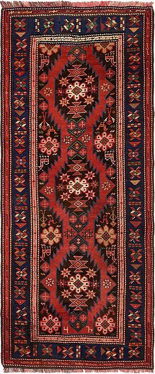 Red 3 X 7 3 Shiraz Persian Runner Rug Persian Rugs Esalerugs