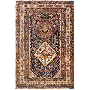 HandKnotted 3' 5 x 5' 2 Yalameh Persian Rug