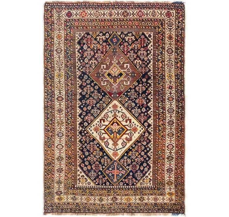 3' 5 x 5' 2 Yalameh Persian Rug