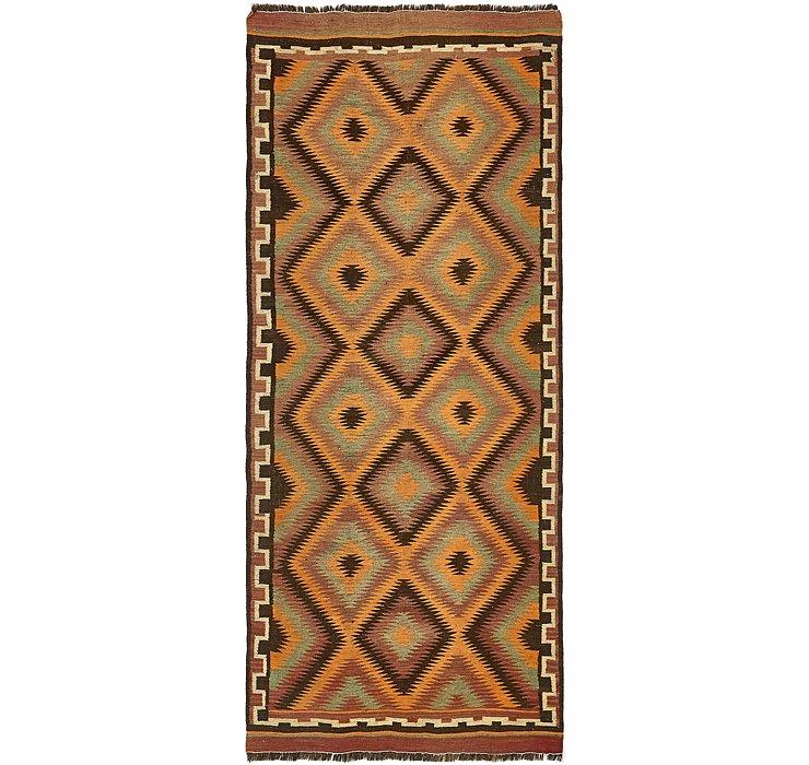 4' 8 x 11' Kilim Fars Runner Rug