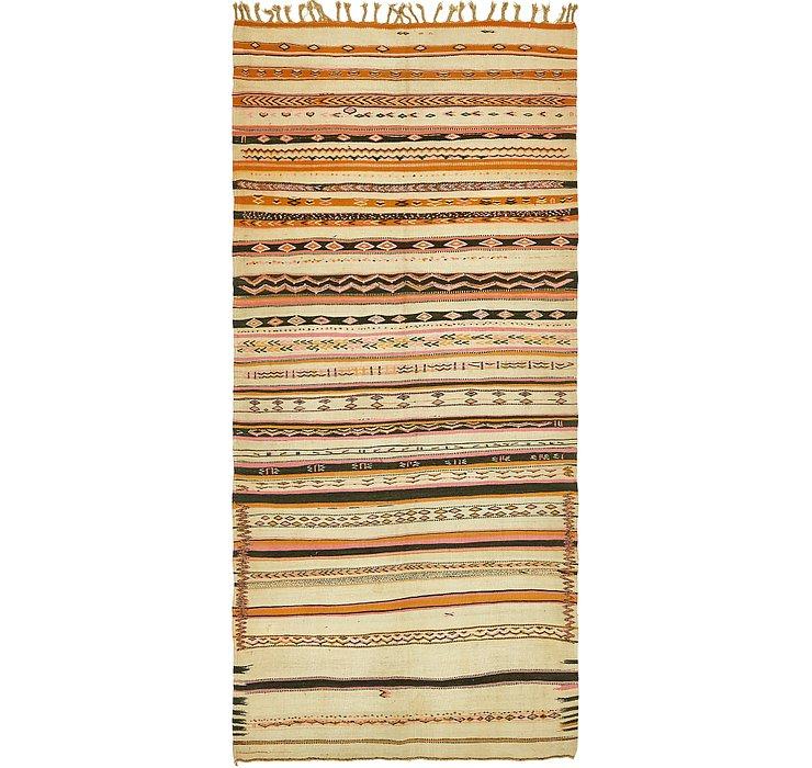 4' 8 x 10' 7 Kilim Fars Runner Rug