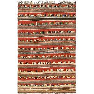 Unique Loom 4' 6 x 7' 5 Moroccan Rug