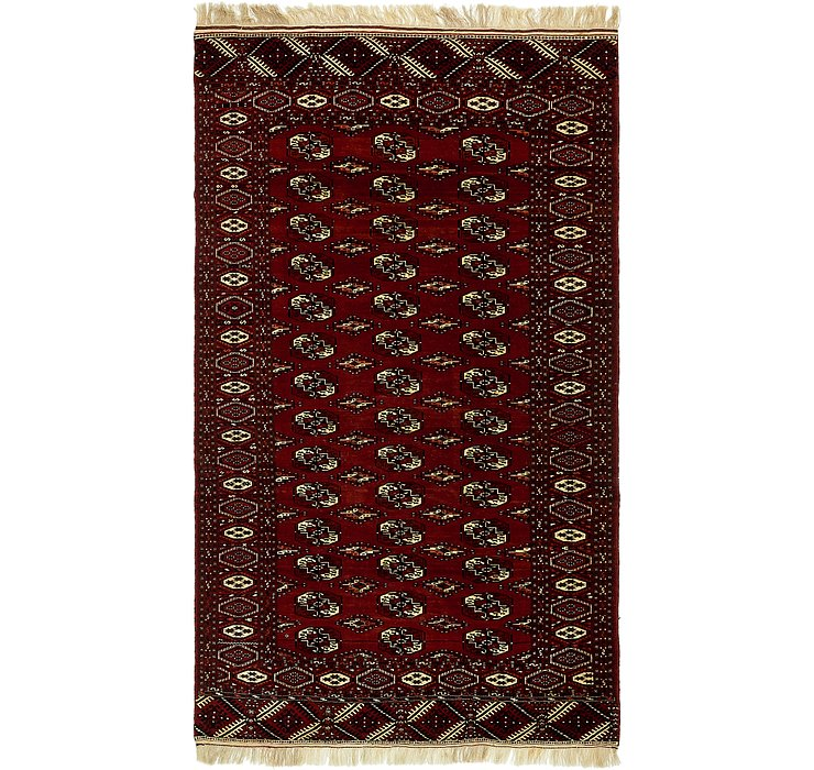 6' 6 x 11' 3 Torkaman Persian Rug