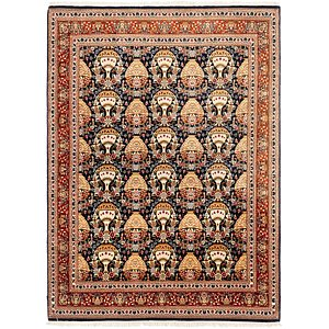 4' 9 x 6' 6 Qom Persian Rug