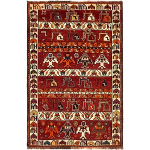 Unique Loom 4' x 6' Ghashghaei Persian Rug