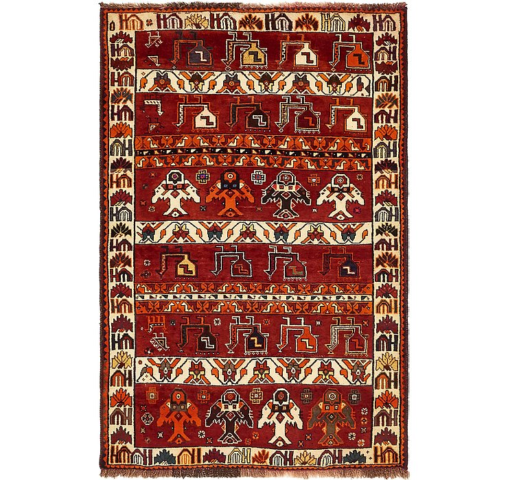 122cm x 183cm Ghashghaei Persian Rug