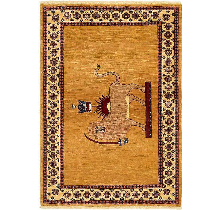 3' 5 x 5' Ghashghaei Persian Rug