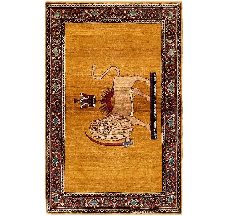 3' 4 x 5' 3 Ghashghaei Persian Rug