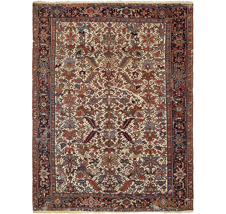 8' 2 x 10' 9 Heriz Persian Rug