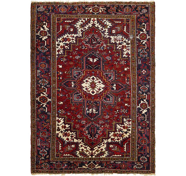 HandKnotted 6' 5 x 8' 9 Heriz Persian Rug