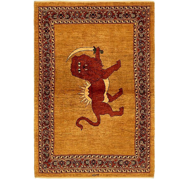 3' 8 x 5' 6 Ghashghaei Persian Rug