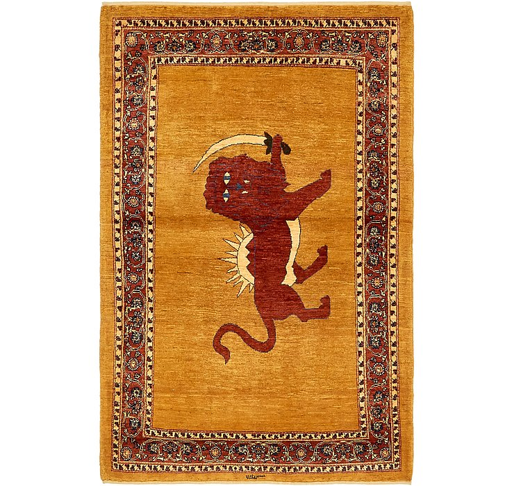 3' 9 x 6' Ghashghaei Persian Rug