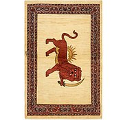 Link to 110cm x 195cm Ghashghaei Persian Rug