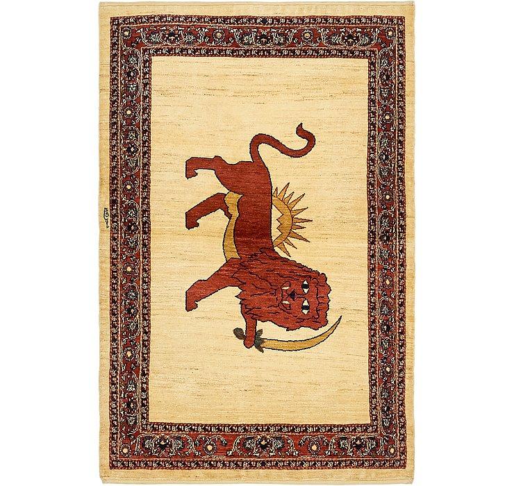 3' 7 x 6' 5 Ghashghaei Persian Rug