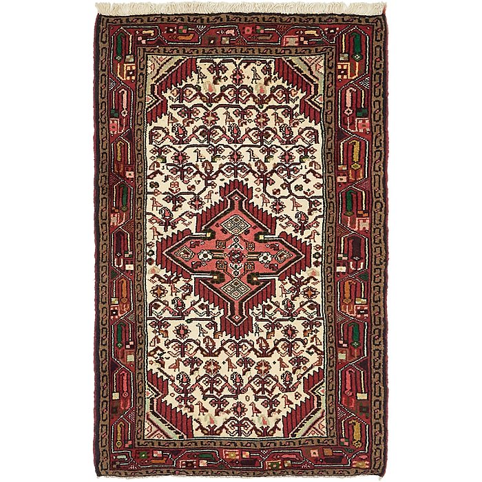 2' 7 x 4' 4 Mazlaghan Persian Rug