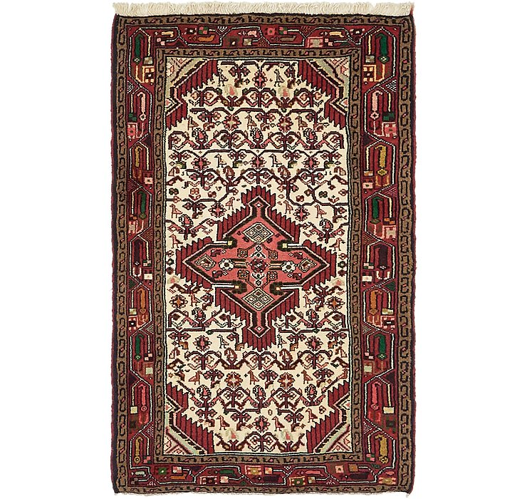 HandKnotted 2' 7 x 4' 4 Mazlaghan Persian Rug