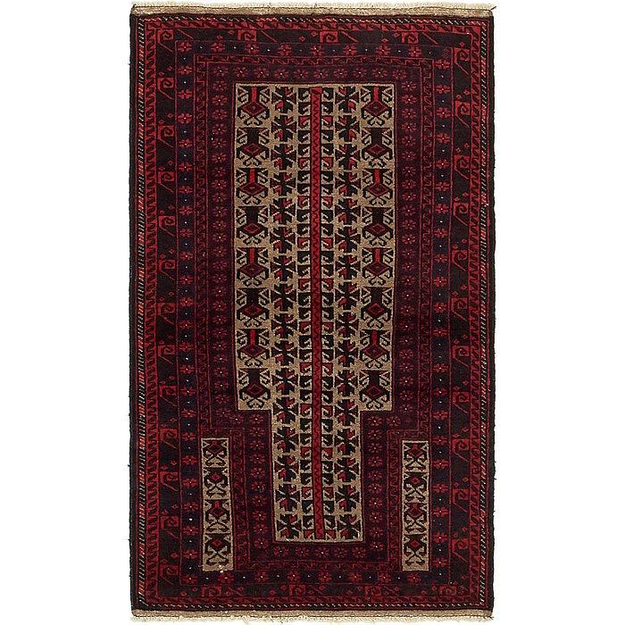 2' 9 x 5' Balouch Persian Rug