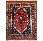 Link to 4' 6 x 6' Ghashghaei Persian Rug
