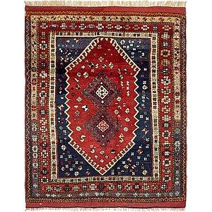 Unique Loom 4' 6 x 6' Ghashghaei Persian Rug