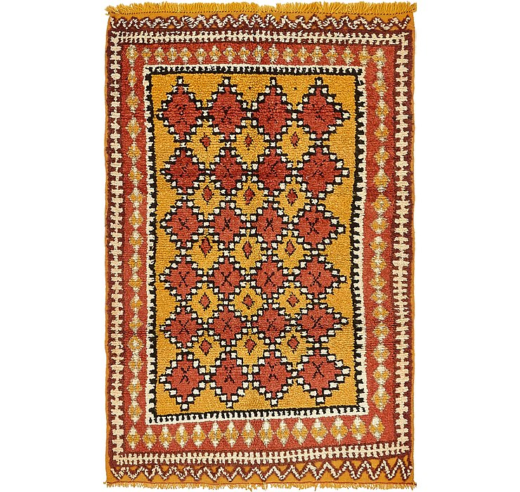 HandKnotted 4' x 6' Moroccan Rug